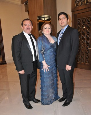 Jorge, Maribel y Jan Carlo Alvarenga