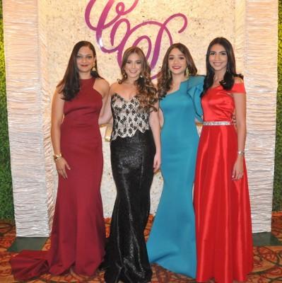Laura Romero, María Fernanda Carrillo, Andrea Argueta y Erime Cárcamo