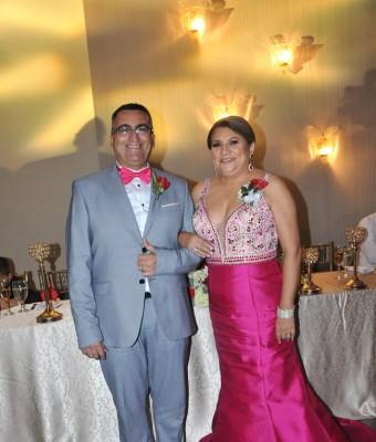 Los padres del novio, Yony Tinoco y Rubí Ochoa