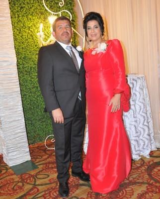 Los padrinos de lazo, Javier Francisco Funes y Miriam Guzman.