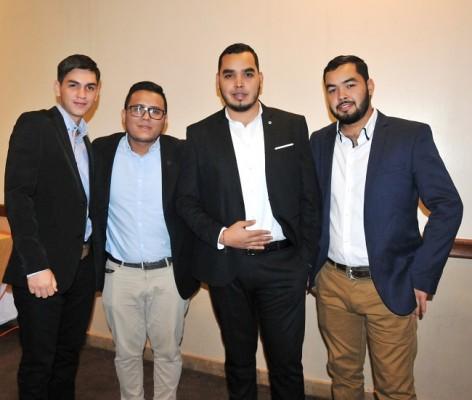 Luis Menjívar, Efraín Moreno, Mauro Menjívar y Marlon Menjívar