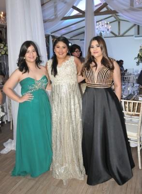 Luisa Fúnez, Maite Portillo y Patricia Andino