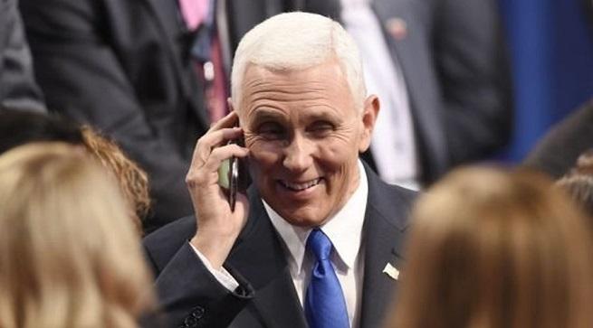 Hernández sostiene diálogo vía telefónica con Mike Pence vicepresidente de EEUU