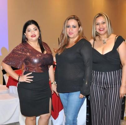 Nancy Osorto, Rosa Orellana y Claudia Pineda