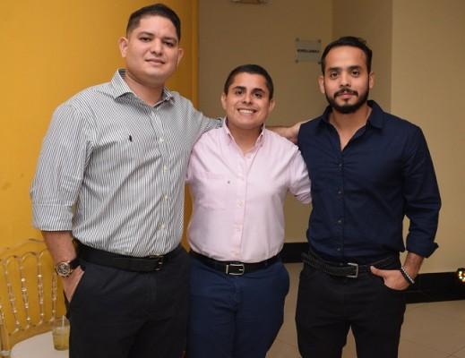 Ángel Figueroa, Maynor Fuentes y Nelson Anariva