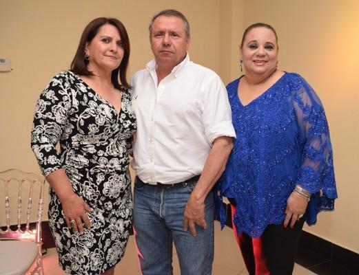 Bertha Aguilar, Maynor López y Nolvia Mejía.