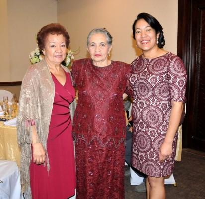 Norma Acuña, María Antonia Bustillo y Judith López