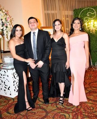 Pamela Abadie, Josué Zaldivar, Lourdes Avendaño y Mónica Rivera