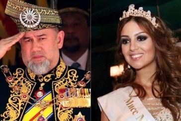 Escándalo en la realeza: el rey de Malasia se casó en secreto con una modelo rusa y abdicó al trono