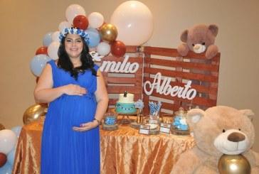 Detalles en azul para Ruby Lizeth en su baby shower