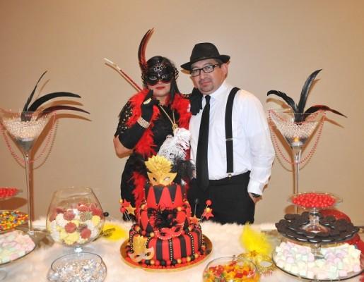 Tania Rodríguez de Romero junto a su gentil esposo, Sliver Romero