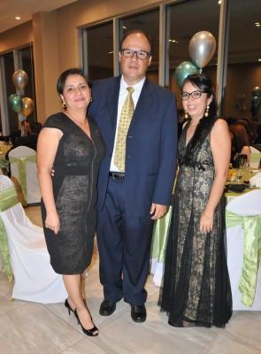 Fabiola Moreira, Leonardo Vásquez y Yaneth Rivera