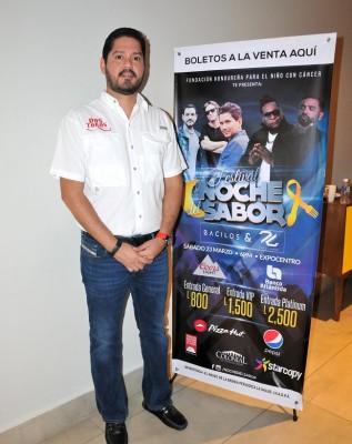 Horacio Ruíz, representante de los restaurantes patrocinadores del Festival Noche del Sabor 2019