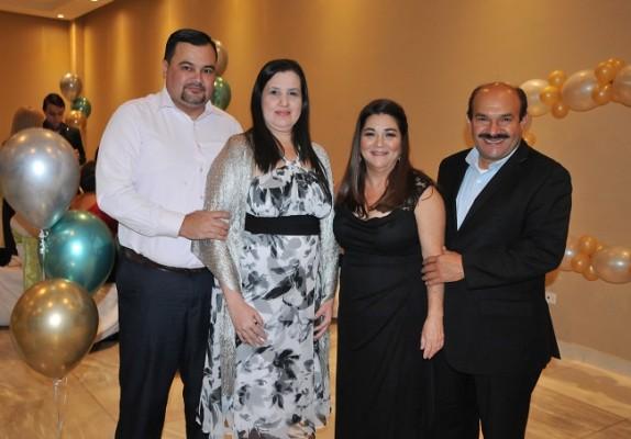 Jesús Alvarado, Claudia Fajardo, Rosa María Segura y Armando Sauceda