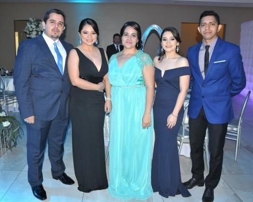 Juan Palacios, Karina Echeverría, Claudia Orellana, Claudia Barahona y Joel Hernández