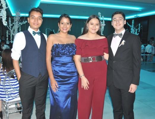 Kevin Soto, Heidy Mena, Juleisy Alemán y Edgardo Arévalo