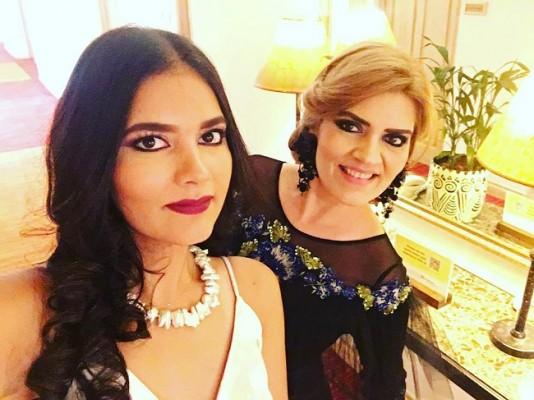 Lilian Caballero y su guapa hija