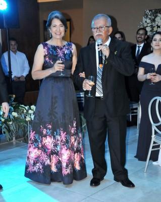 Los padres de la novia, Liliana Castro de Ferrera y Pablo Ferrera