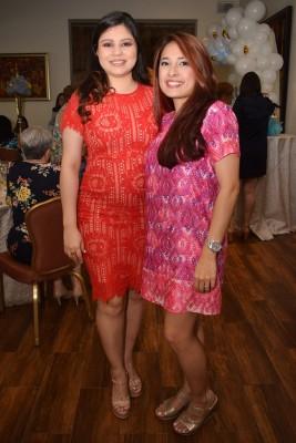 Mélida de Chinchilla y Melany Tróchez