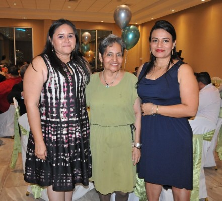 Milca Figueroa, Suyapa Andino y Blanca Saravia