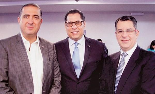 Pedro Atala, Sebastián Pastor y Rafael Villeda