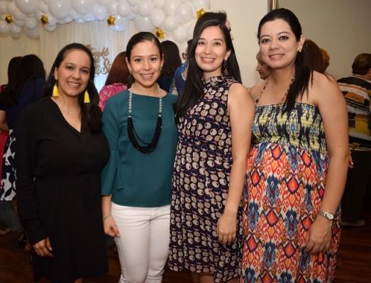 Ritza Paredes, Cindy García, Mariela Rápalo y Johana Ortega de Flores