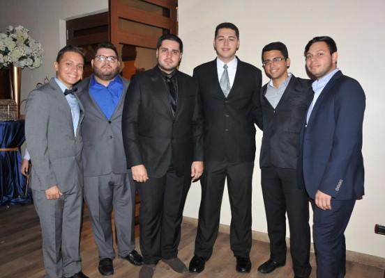 Aaron Mejía, Carlos Zamora, Freddy Villars, Yeoshua Villars, Franklin Montoya y Marco Mejía
