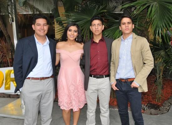 Alex Ramírez, Cecilia Morales, Marcos Enamorado y Ángel Hernández