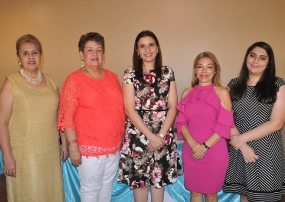 Amelia Valladares de Cáceres, Suyapa Urquía, Sayda Cáceres de Bandy, Ana Dunaway de Castro y Lody Bandy