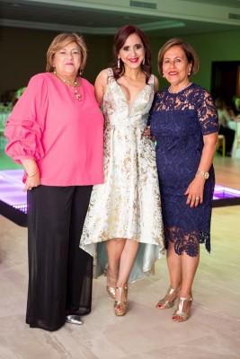 Blanca Palacios, Waleska López y Martha de López