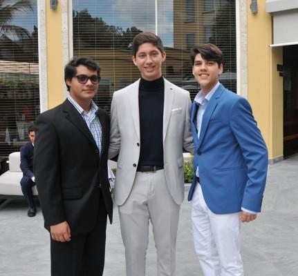 Carlos Rosales, Speer Larach y Gian Carlos Caraccioli