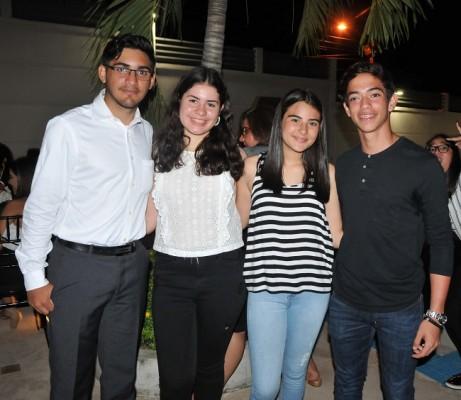 Cristian Gamboa, Luisa Aguilar, Montserrat Bodden y Manuel Serrano