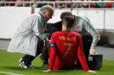 Cristiano Ronaldo se lastinó en el partido disputado por Portugal ante Serbia y pone a temblar a la Juventus