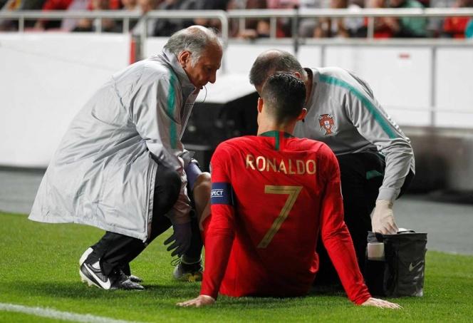 Cristiano Ronaldo se lesionó en el partido disputado por Portugal ante Serbia y pone a temblar a la Juventus