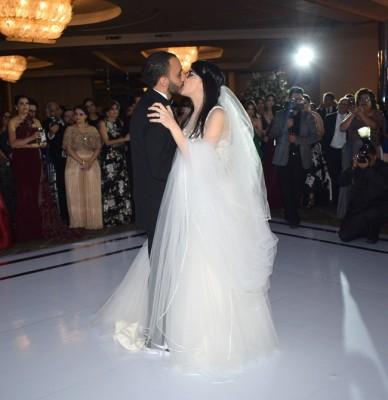 Lisa Marie Hepburn Gabrie y Juan José Jaar Faraj en su memorable baile de bodas