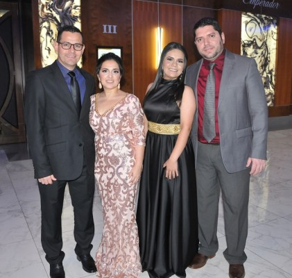 Daniel Chávez, Danelia López, Patricia y Josué Rivera