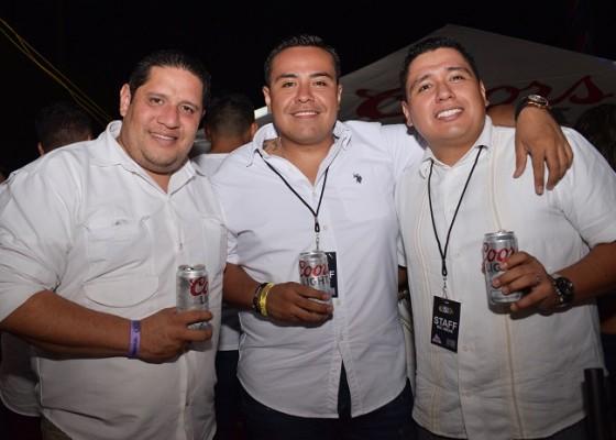 David García, Marco López y Cristian López