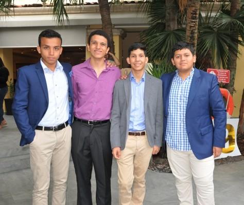Eduardo Benavente, Rodrigo Prieto, Nathan Robertson y Daniel Carranza