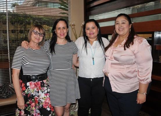 Fanny Doninelli, Iris Ponce, Ingrid Almendárez y Alma Izaguirre
