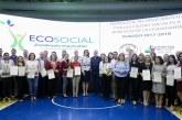 Entregan reconocimiento a empresas e instituciones que apoyan Ecosocial