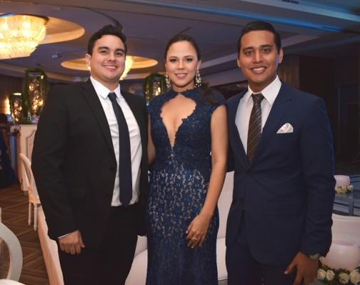 Francisco Somoza, Sussie Pineda y Daniel Ochoa