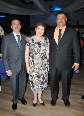 Geovanny Cruz, Karla Hidalgo y Gabriel Villars