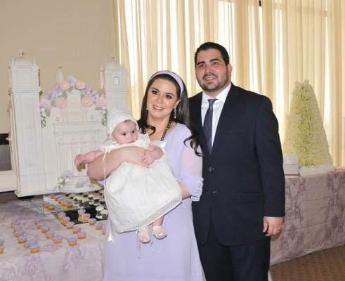 Giordanna Kafati de Orellana y Guillermo Orellana Bahr celebraron el bautizo de su primer heredera, Valentina