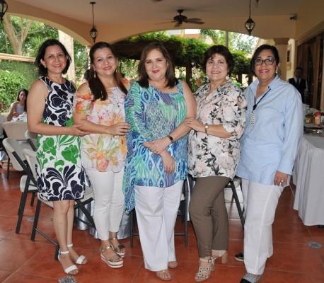 Gracia de Vásquez, Sulim de Soto, Ileana de Soto, Riva de Romero y Waldina Vallejo