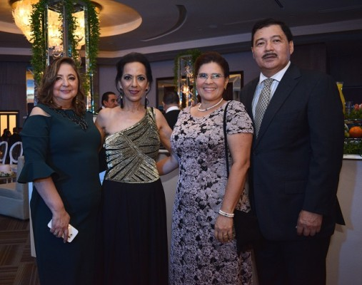 Idis Kafati, Lorette Kawas, Carmen y Lisandro Orellana