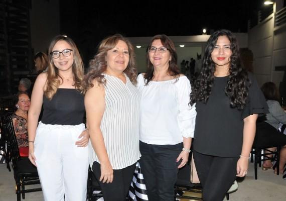 Jehimy Rivera, Lilian Arita, Marlene Rodríguez y Lorely Suazo