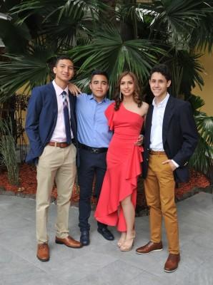 Jorge Guzman, Anthony Ríos, Valeria Faasch y Felix González