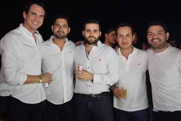Jorge Handal, Héctor Bú, José Perdomo, Luis Irías y Kamal Dieck