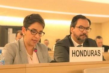 Honduras reafirma su voluntad de cumplir obligaciones y compromisos en materia derechos humanos: Karla Cueva