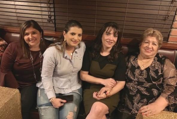 Karla Sandoval de Teruel, Alicia Sikaffy, Dora María Sandoval y Licida Sandoval